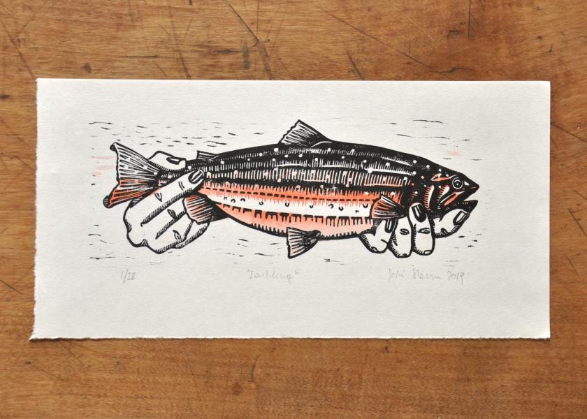 Fische Halten_Blatt